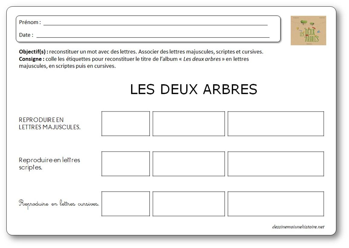 Les Deux Arbres D'elisabeth Brami - Exploitation Pédagogique encequiconcerne Album Printemps Gs