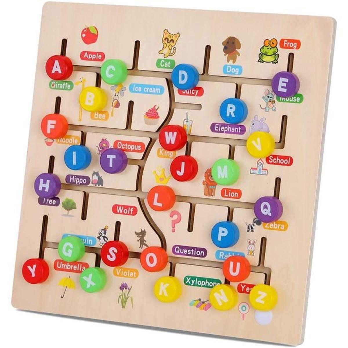 Les Enfants Puzzle Alphabet 6 Lettres Jeux D'association Puzzle Jouets  D'apprentissage Compétences Motrices Éducatives Précoces avec Jeux De Lettres Enfants
