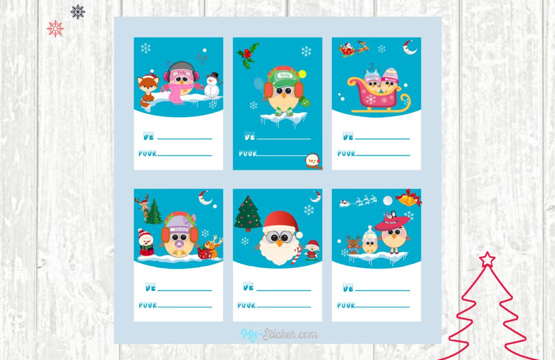 Les Étiquettes De Noël À Imprimer ⋆ Blog My Sticker serapportantà Etiquette Noel A Imprimer