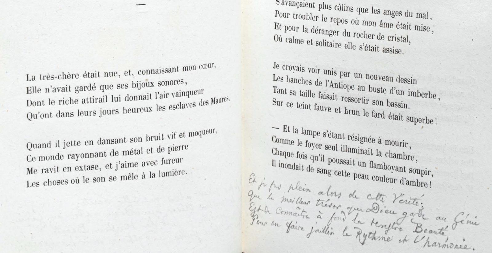 Les Fleurs Du Mal : Une Strophe Inédite De Baudelaire Découverte pour Poeme Les Fleurs