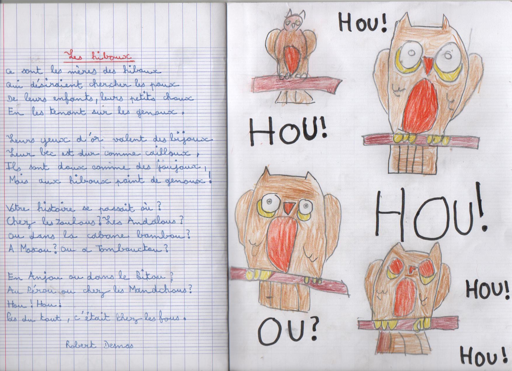 Les Hiboux Robert Desnos Comment Réciter avec Poème De Robert Desnos