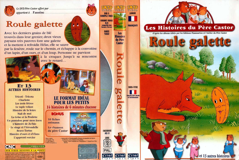Les Histoires Du Pere Castor Roule Galette - Jaquette Dvd destiné Histoire Roule Galette