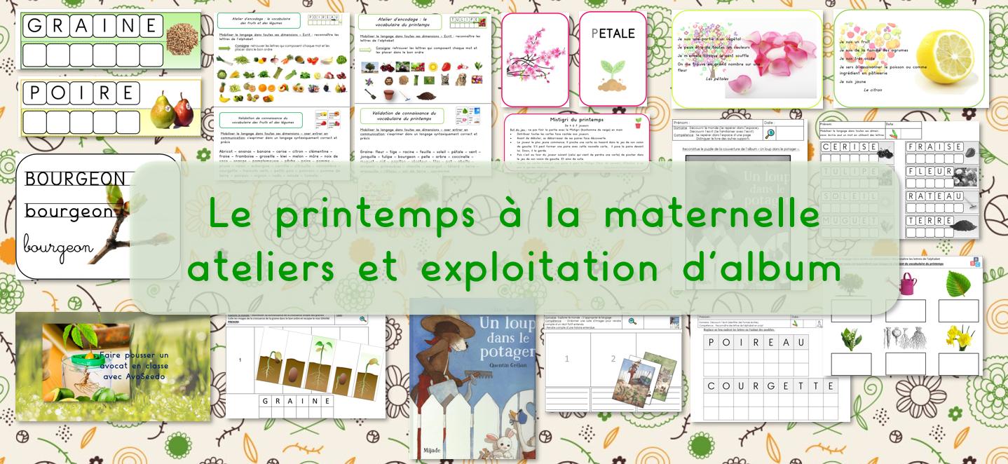 Les Jeux De Jean Noël : Le Printemps À La Maternelle tout Album Printemps Gs