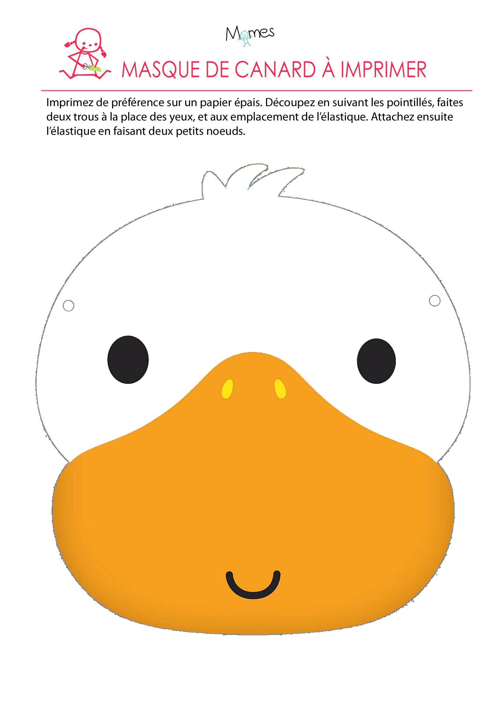 Les Masques Du Carnaval: Le Masque De Canard | Masque De serapportantà Masque Canard À Imprimer