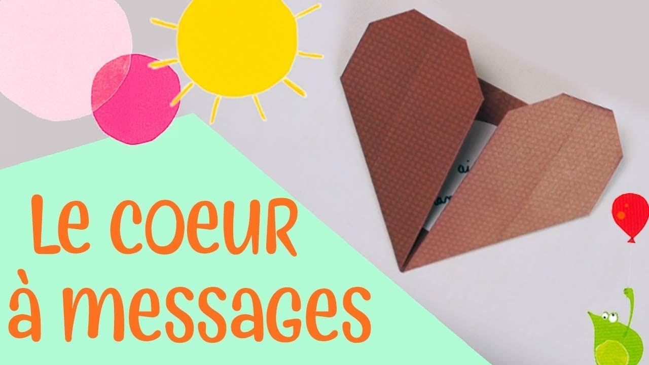 Les Petits Pliages - Le Cœur À Message - Origami Facile Pour Enfants concernant Origami Facile A Faire En Français