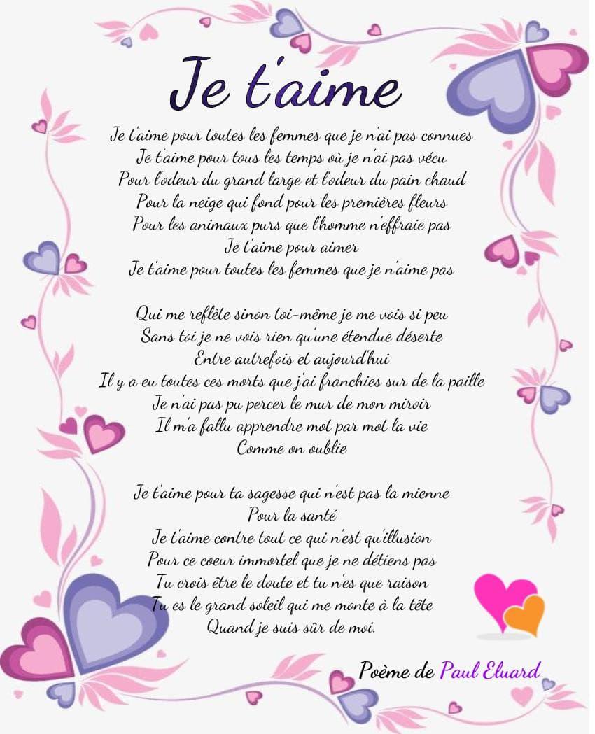 Les Plus Beaux Je T'aime En Poèmes D'amour | Poème D'amour pour Texte Maman Je T Aime