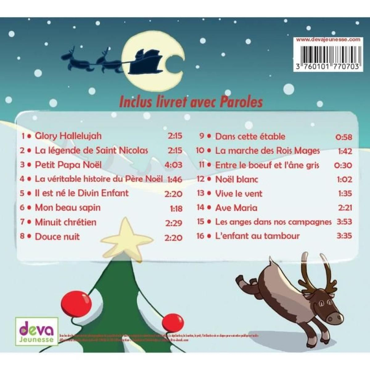 Les Plus Belles Comptines De Noël - Cd Meilleures Chansons De Noël avec Papa Noel Parole