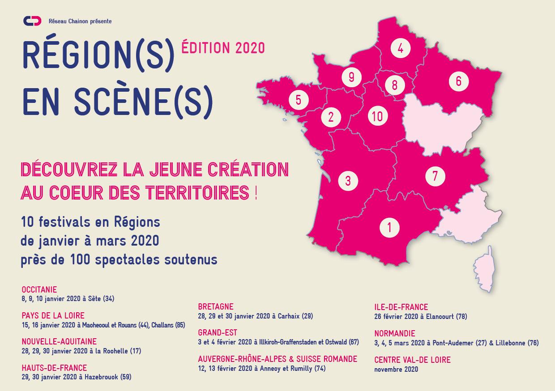 Les Régions En Scènes 2020 Du Chainon - Le Chainon Manquant destiné Nouvelle Region France
