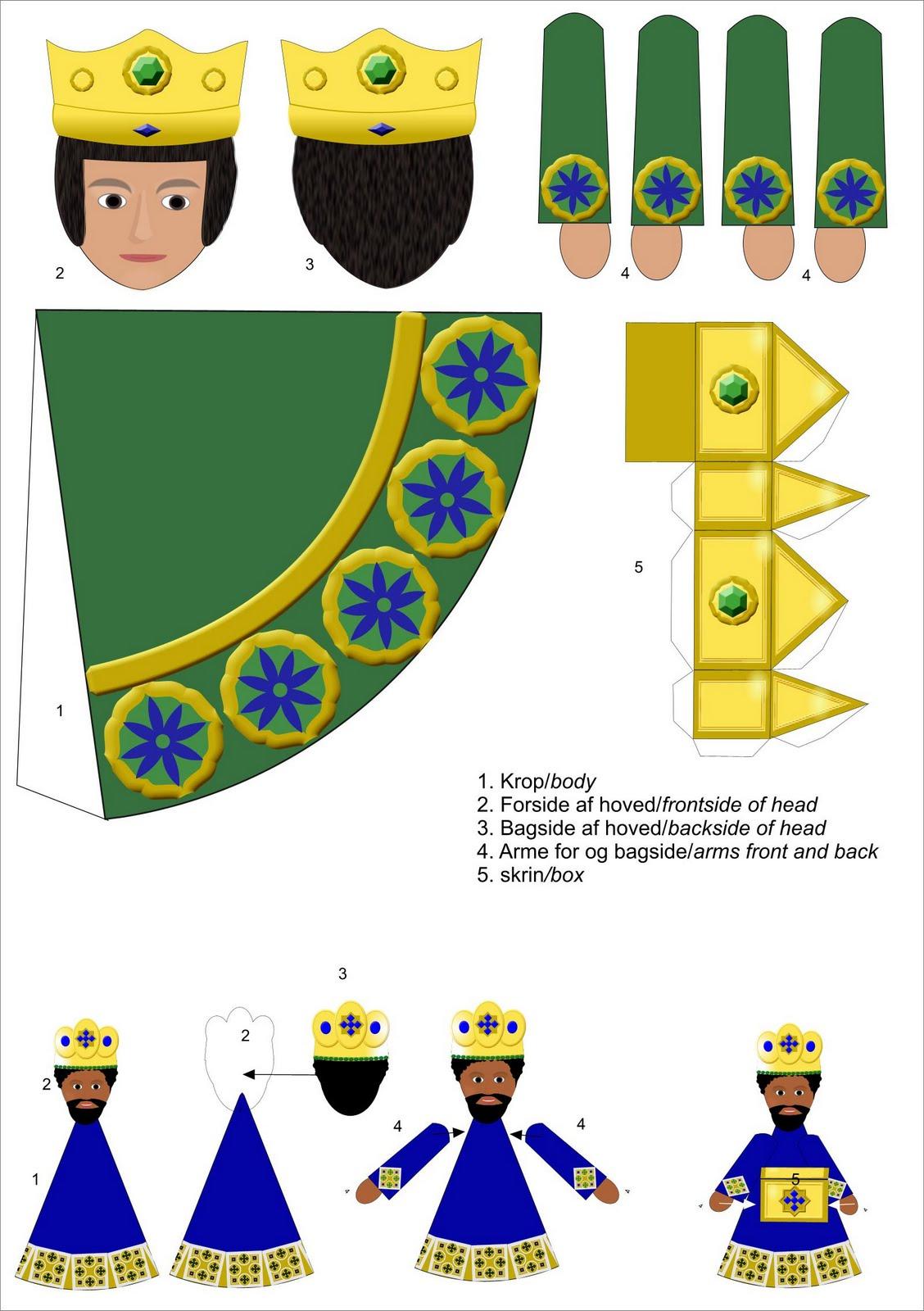 Les Rois Mages : Papertoy intérieur 3 Roi Mage