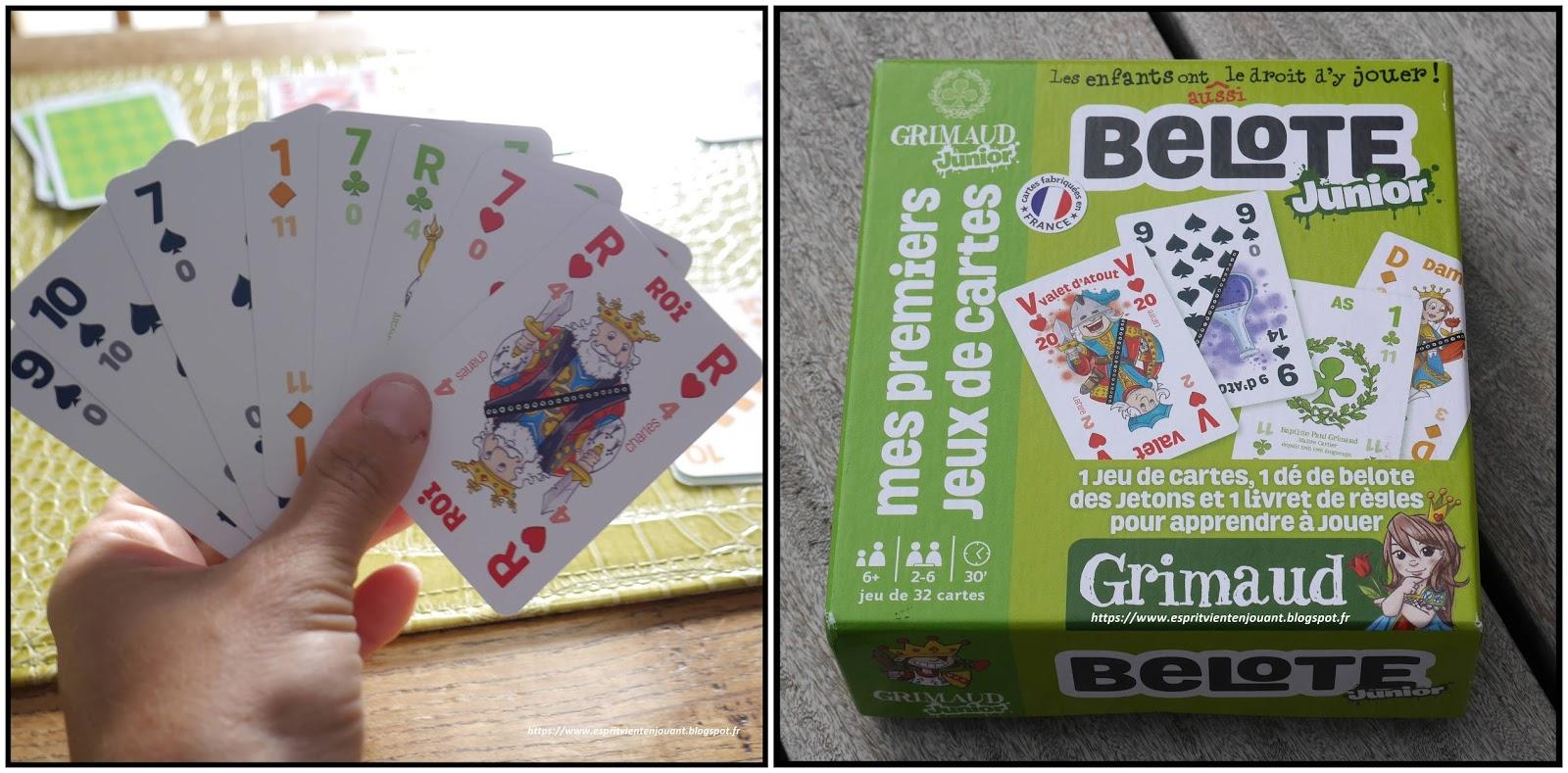 L'esprit Vient En Jouant: [Jeu] La Belote : Jeux De Cartes avec Carte De France Pour Les Enfants