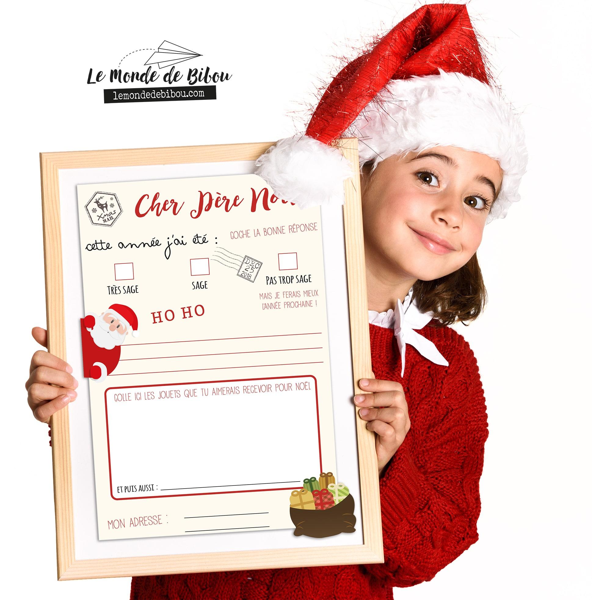 Lettre Au Père Noël À Imprimer Avec Son Enveloppe Prête À dedans Liste Pere Noel Imprimer