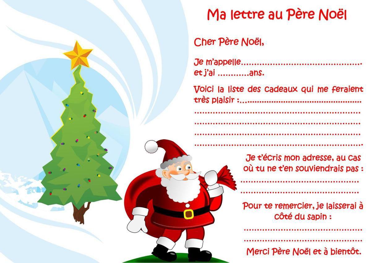 Lettre Au Père Noël - Ape De L'école De Bénéjacq, Benejacq pour Liste Pere Noel Imprimer