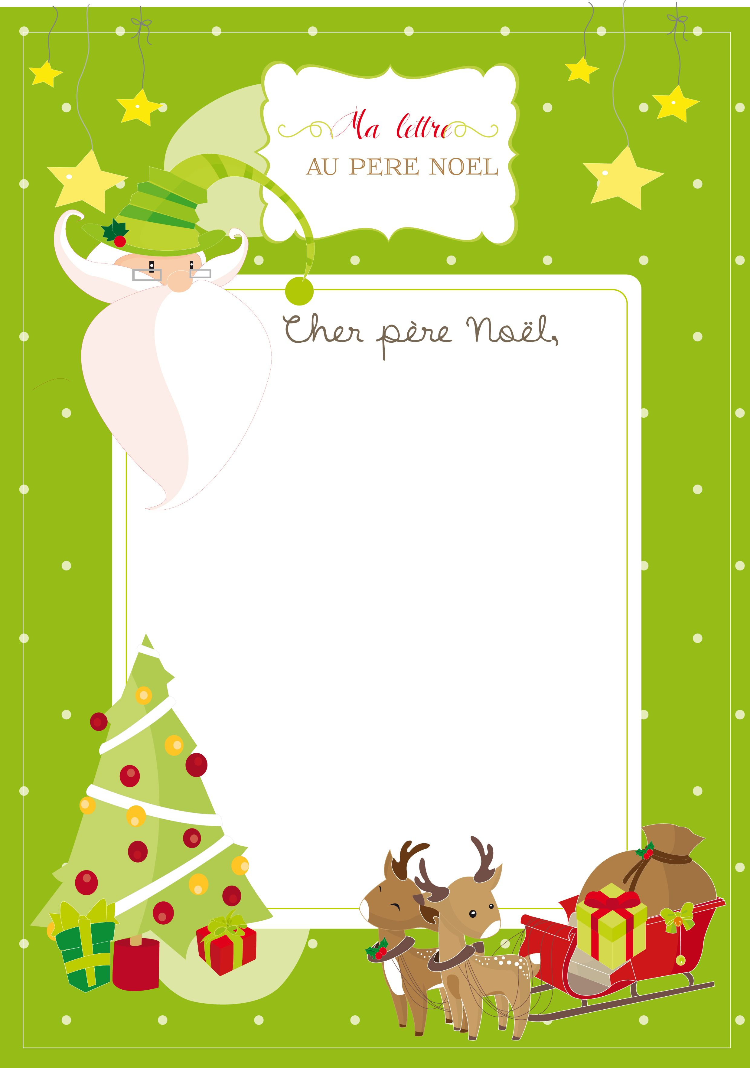 Lettre Au Père Noël - Casse-Graine | Lettre Pere Noel, Pere destiné Liste Pere Noel Imprimer