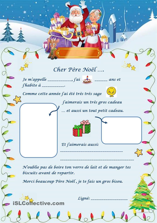 Lettre Au Père Noël | Lettre Pere Noel, Pere Noel A Imprimer destiné Liste Pere Noel Imprimer
