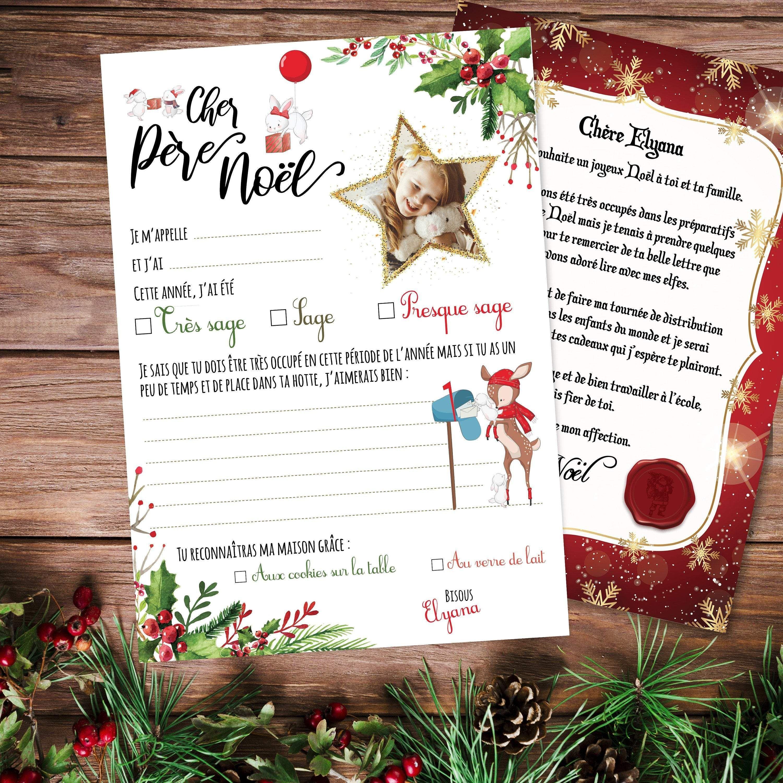 Lettre Au Père Noël Personnalisée Pour Votre Enfant intérieur Reponse Lettre Du Pere Noel A Imprimer