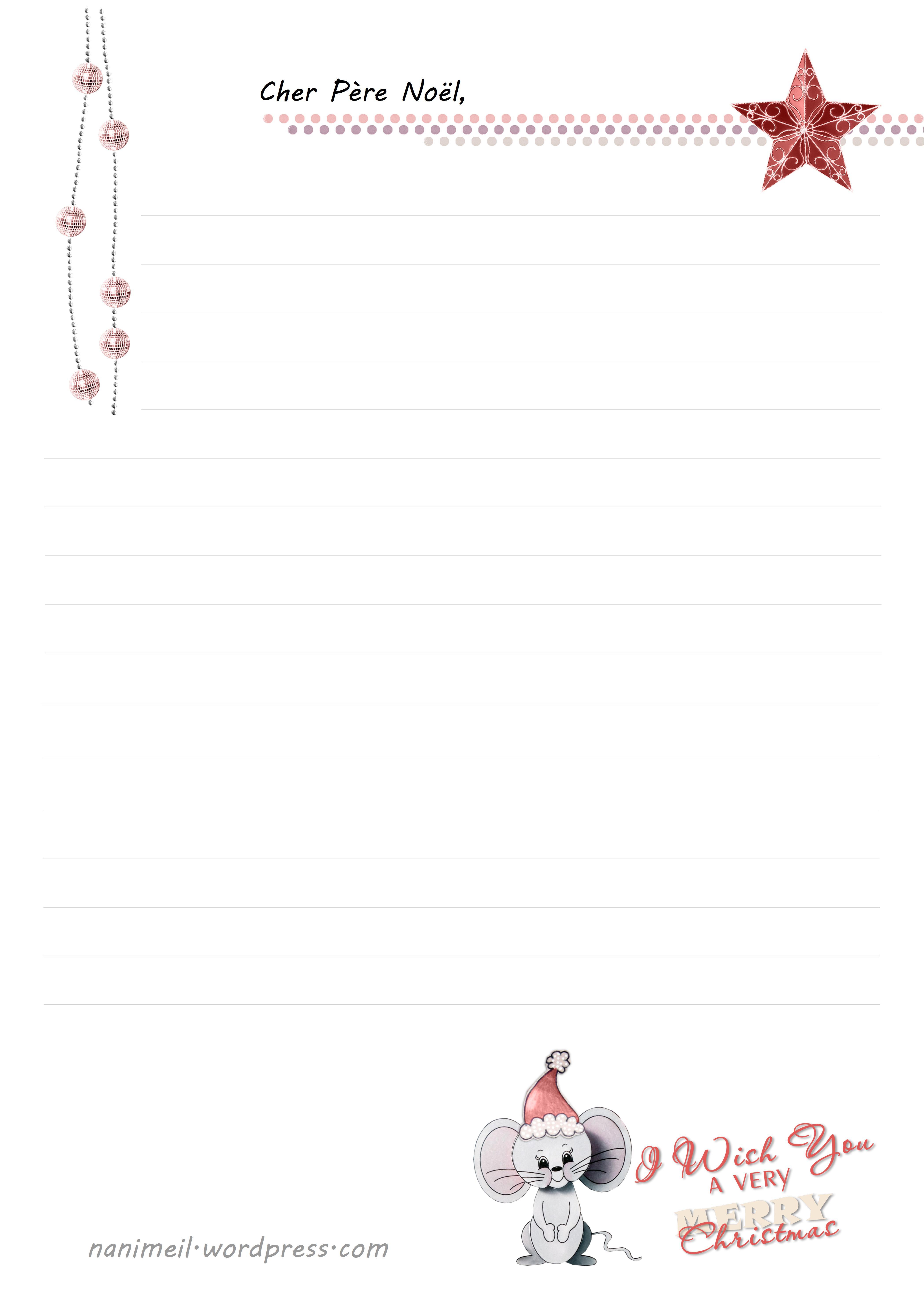 Lettre Au Père-Noël | tout Liste Pere Noel Imprimer