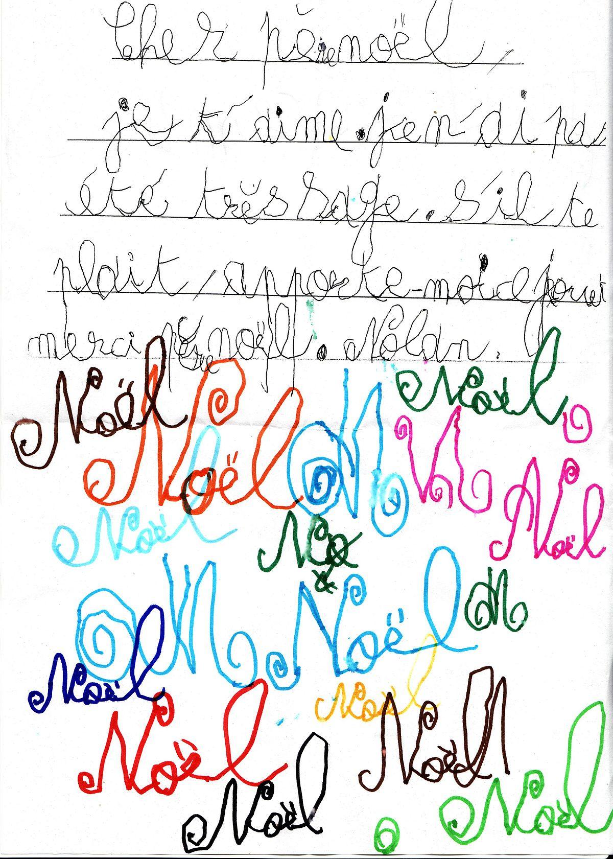Lettre Au Père Noël — Wikipédia à Liste Pere Noel Imprimer