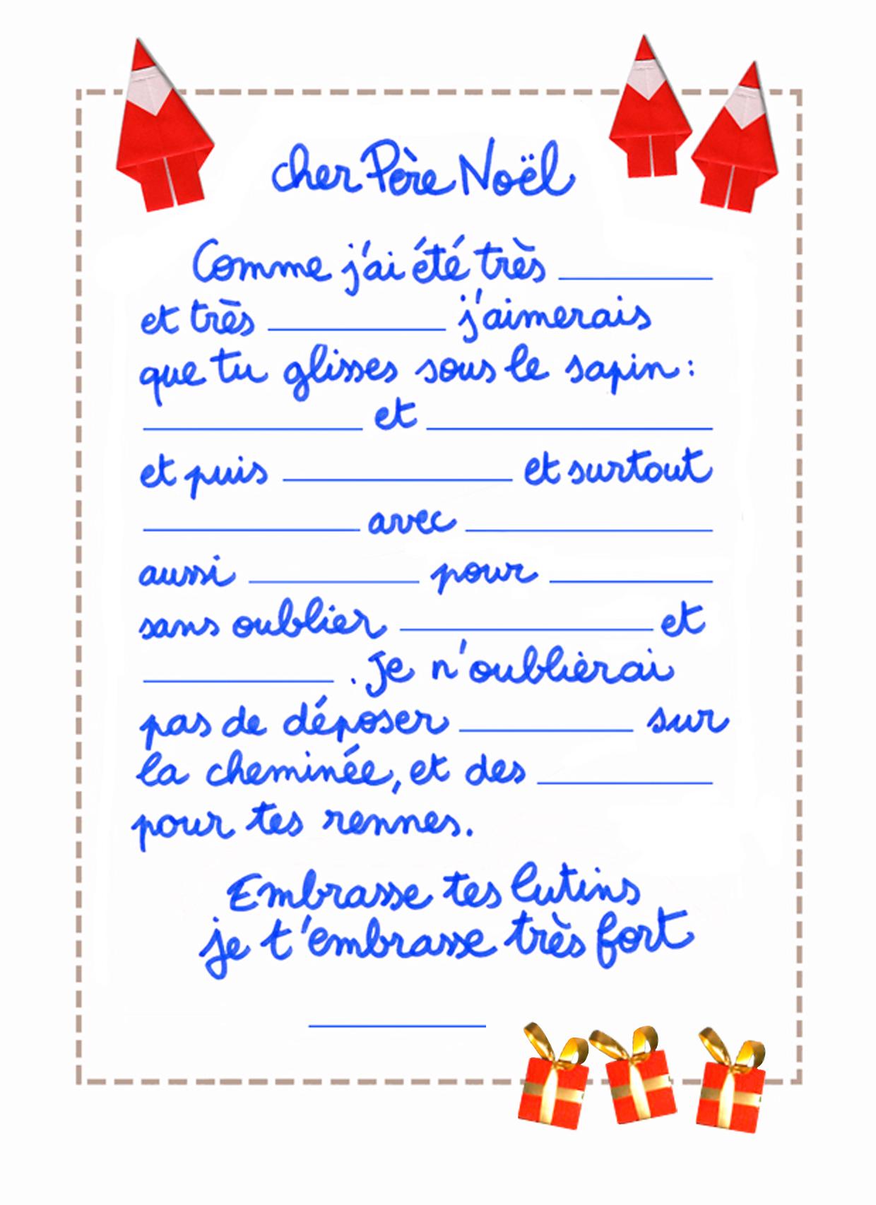 Lettre Du 2 Décembre serapportantà Reponse Lettre Du Pere Noel A Imprimer