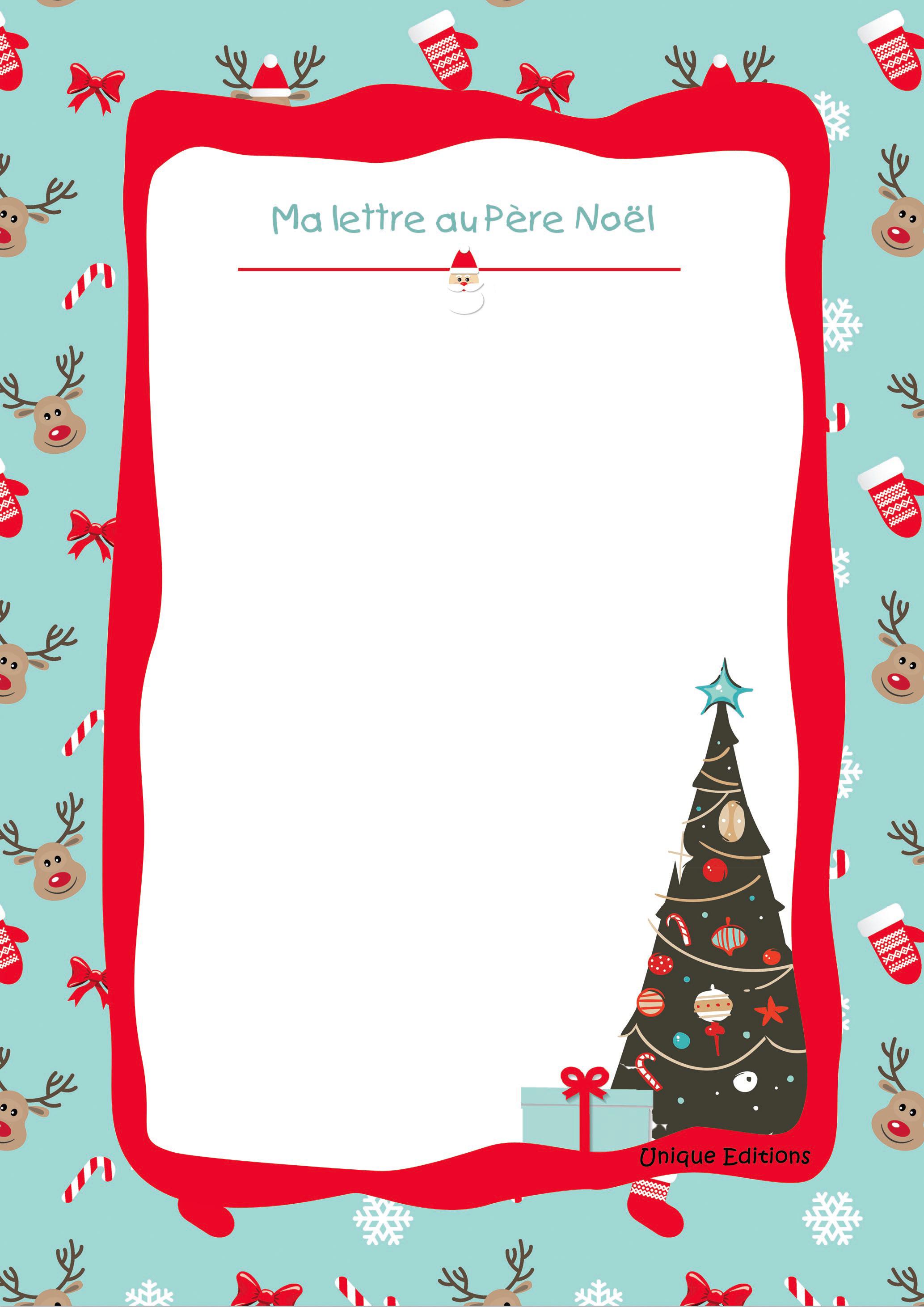Lettre Père Noël | Livres Personnalisés Enfants - Unique intérieur Liste Pere Noel Imprimer