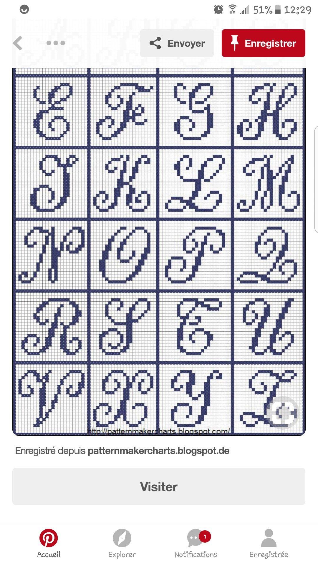 Lettres | Abecedaire Point De Croix, Points De Couture pour Exemple D Un Abécédaire