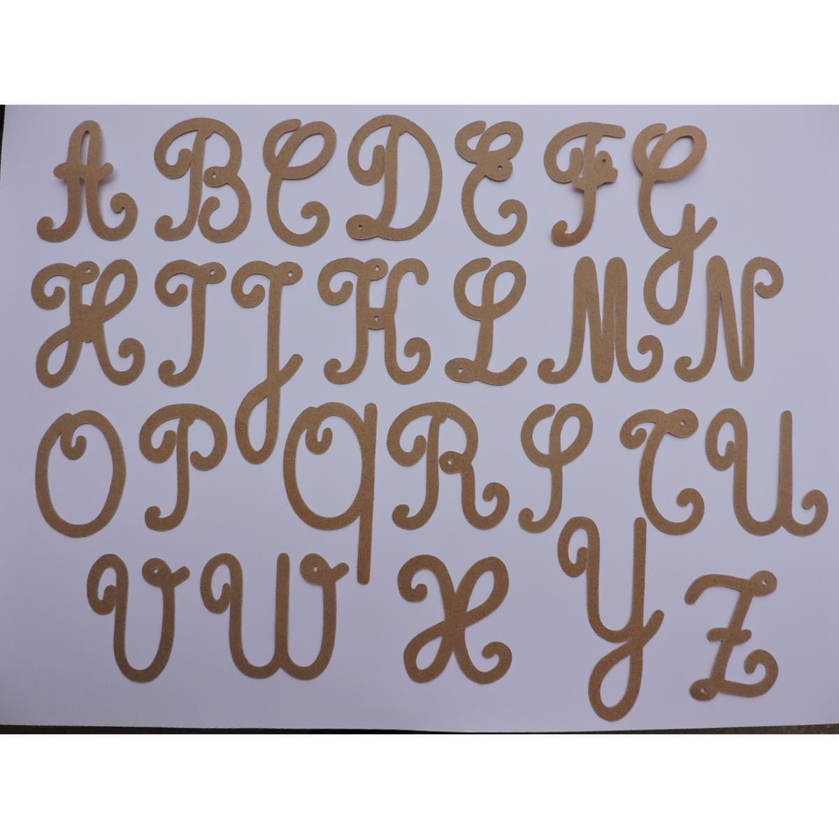Lettres Rugueuses Majuscules Cursives Standard intérieur T Majuscule En Cursive
