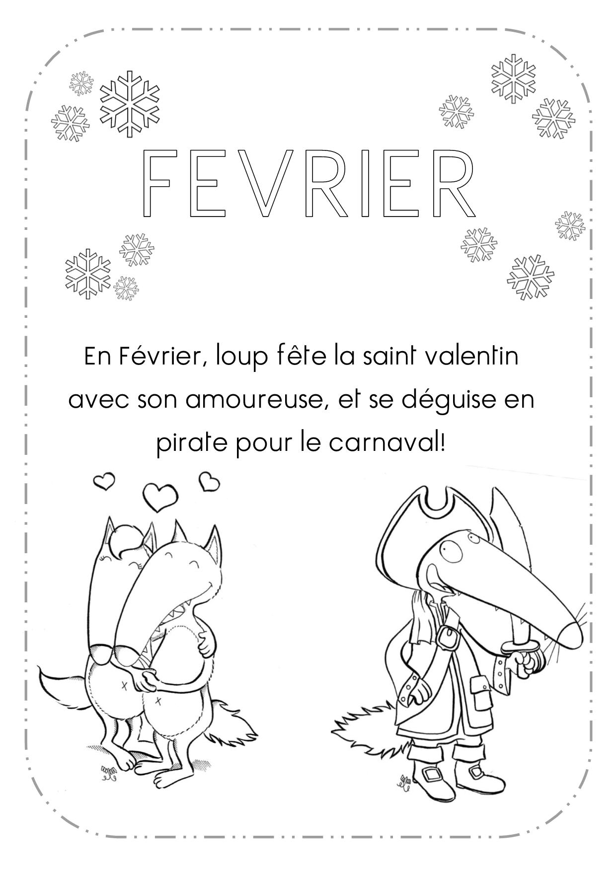 Lettrine Roman De Renart | Loup, Coloriage Loup Et Mois De L pour Coloriage Février