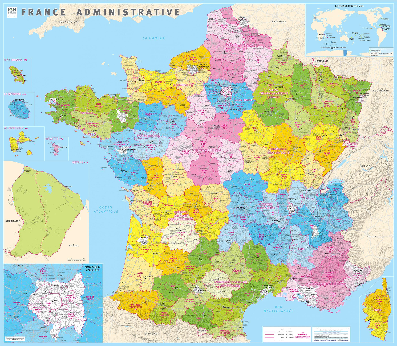 L'ign Publie La Carte Administrative De La France À 13 tout Nouvelle Carte Des Régions De France