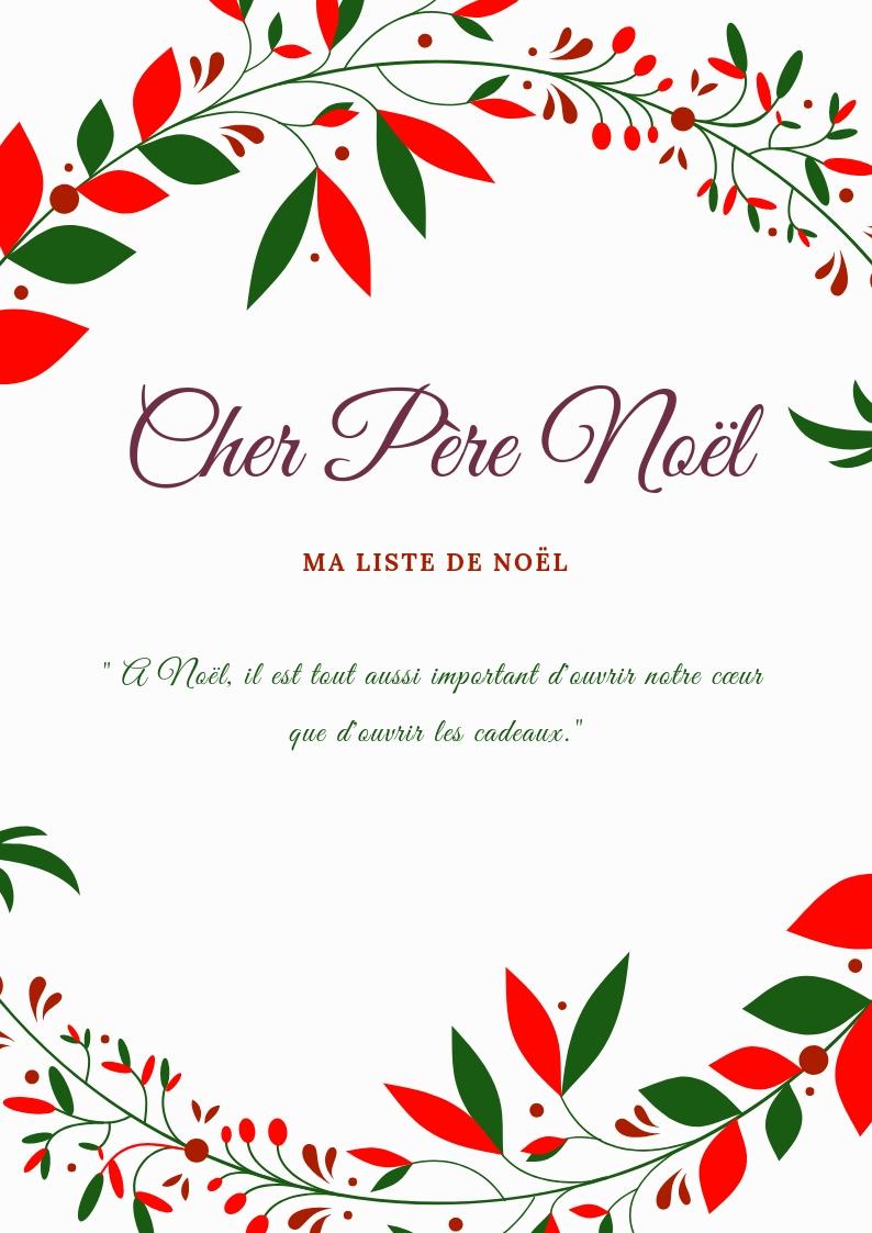 Liste Au Père Noël : Modèle À Imprimer - La Maison Des Filles intérieur Liste Pere Noel Imprimer
