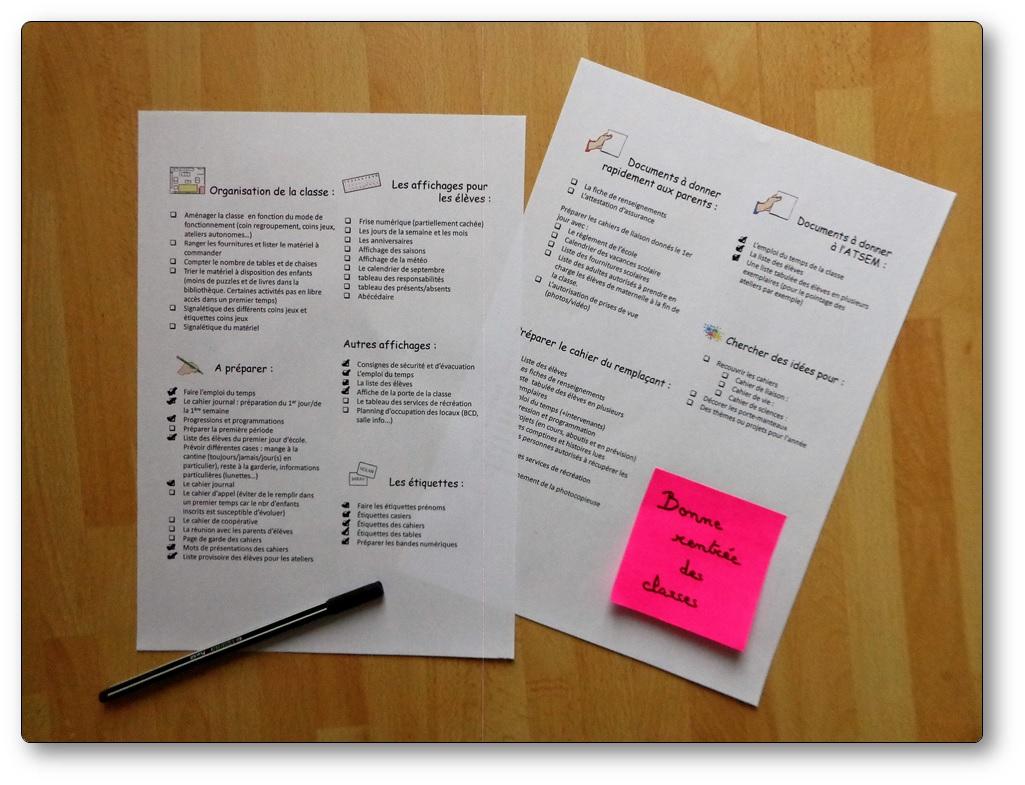 Liste De Choses À Faire Pour Une Rentrée Des Classes Réussie avec Rentrée En Grande Section
