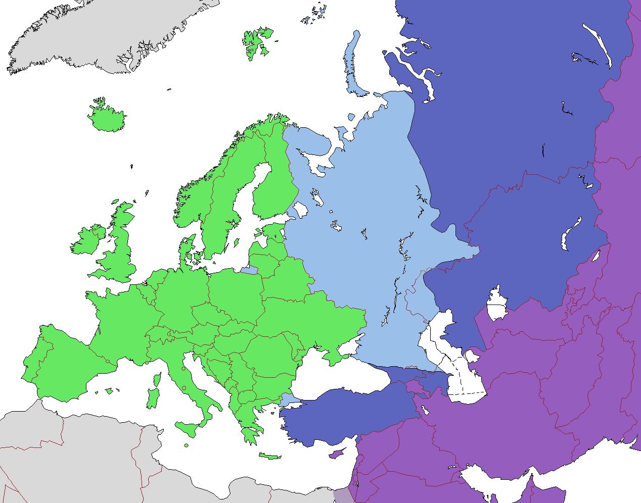 Liste Des Pays D'europe — Wikipédia pour Carte Europe Capitale