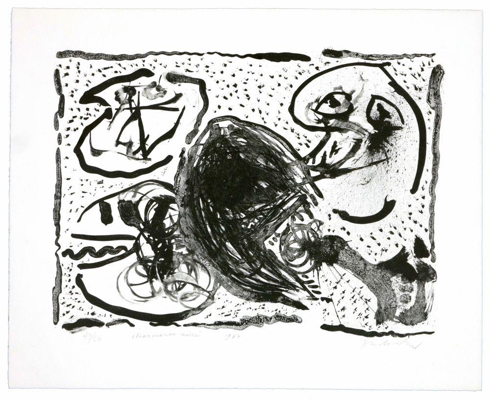 Lithographie De Pierre Alechinsky, Charmante Soirée Sur intérieur Oeuvre Alechinsky