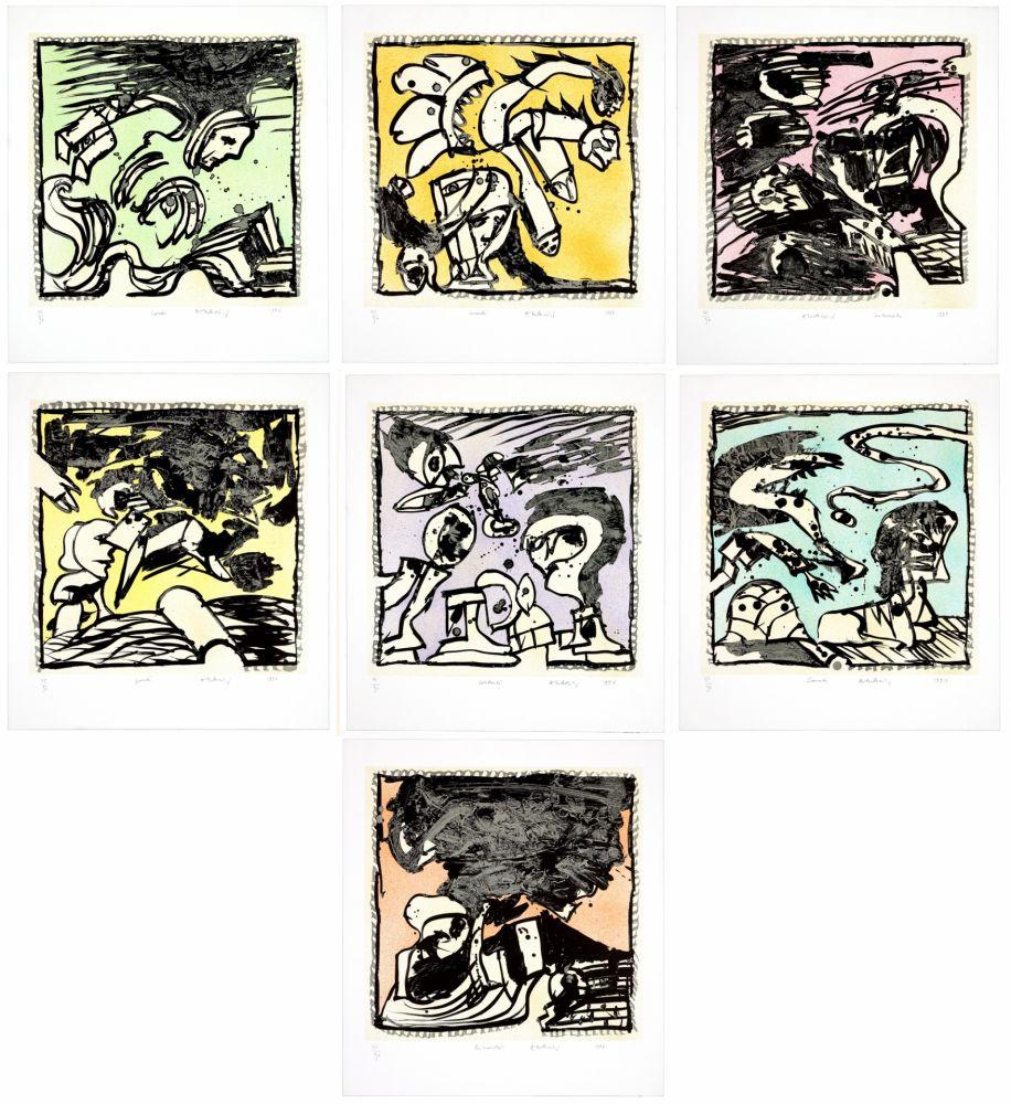 Lithographie De Pierre Alechinsky, Une Bonne Semaine Sur avec Oeuvre Alechinsky