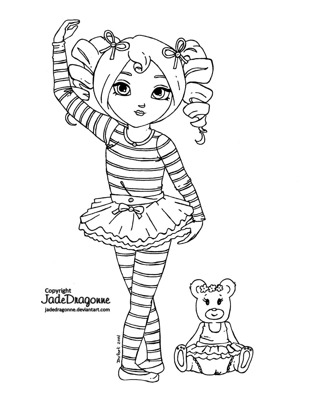 Little Ballerina By Jadedragonne.deviantart On dedans Zou Coloriage