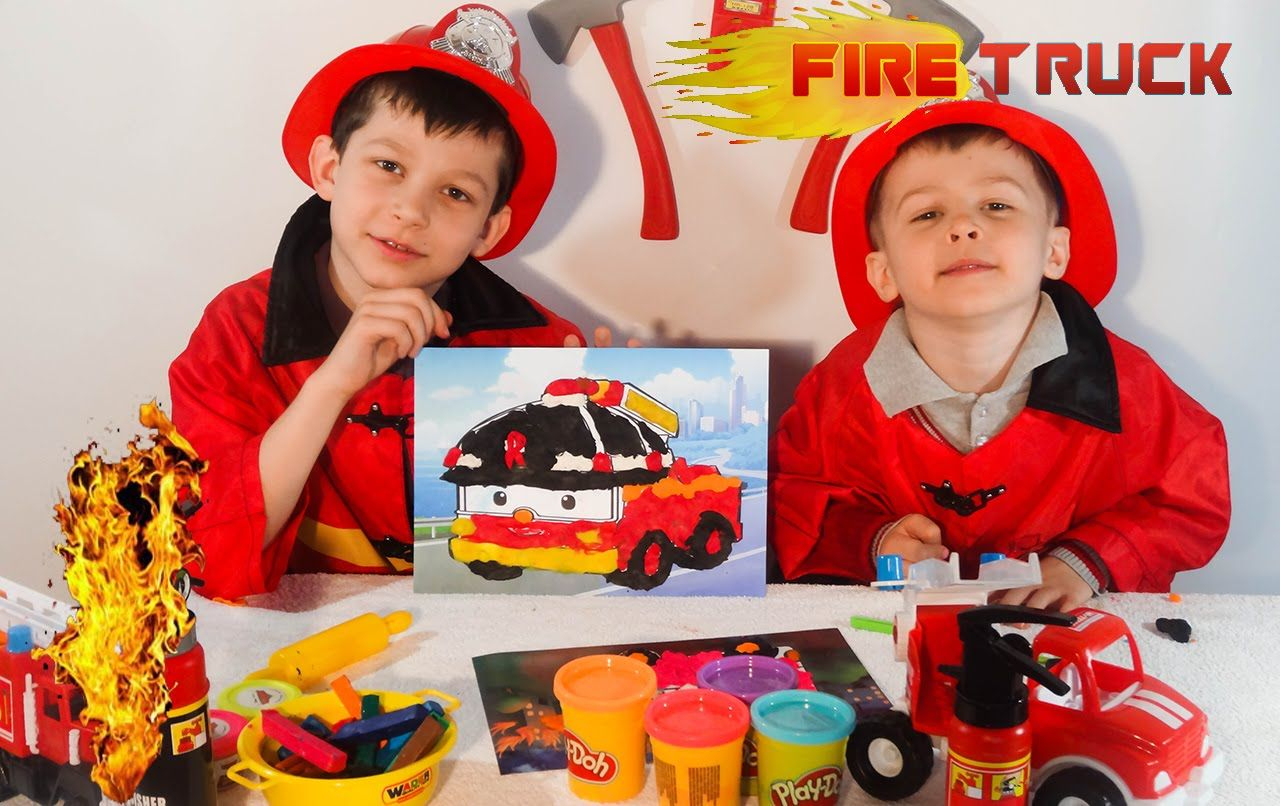 Little Heroes(Firefighters) Make Play Doh Robocar Poli Fire encequiconcerne Chanson Robocar Poli