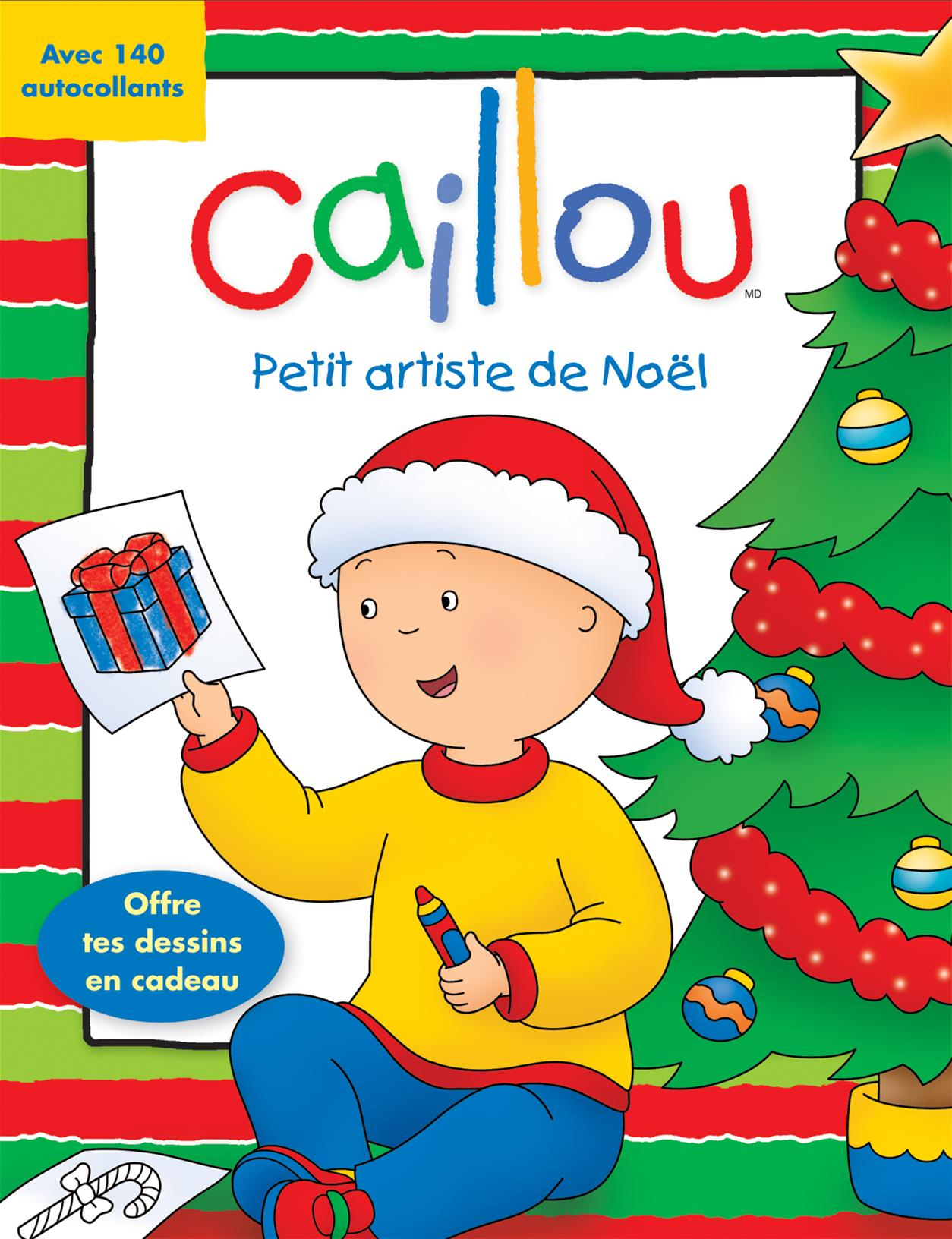 Livre Caillou: Petit Artiste De Noël - Coloriages destiné Caillou Fete Noel