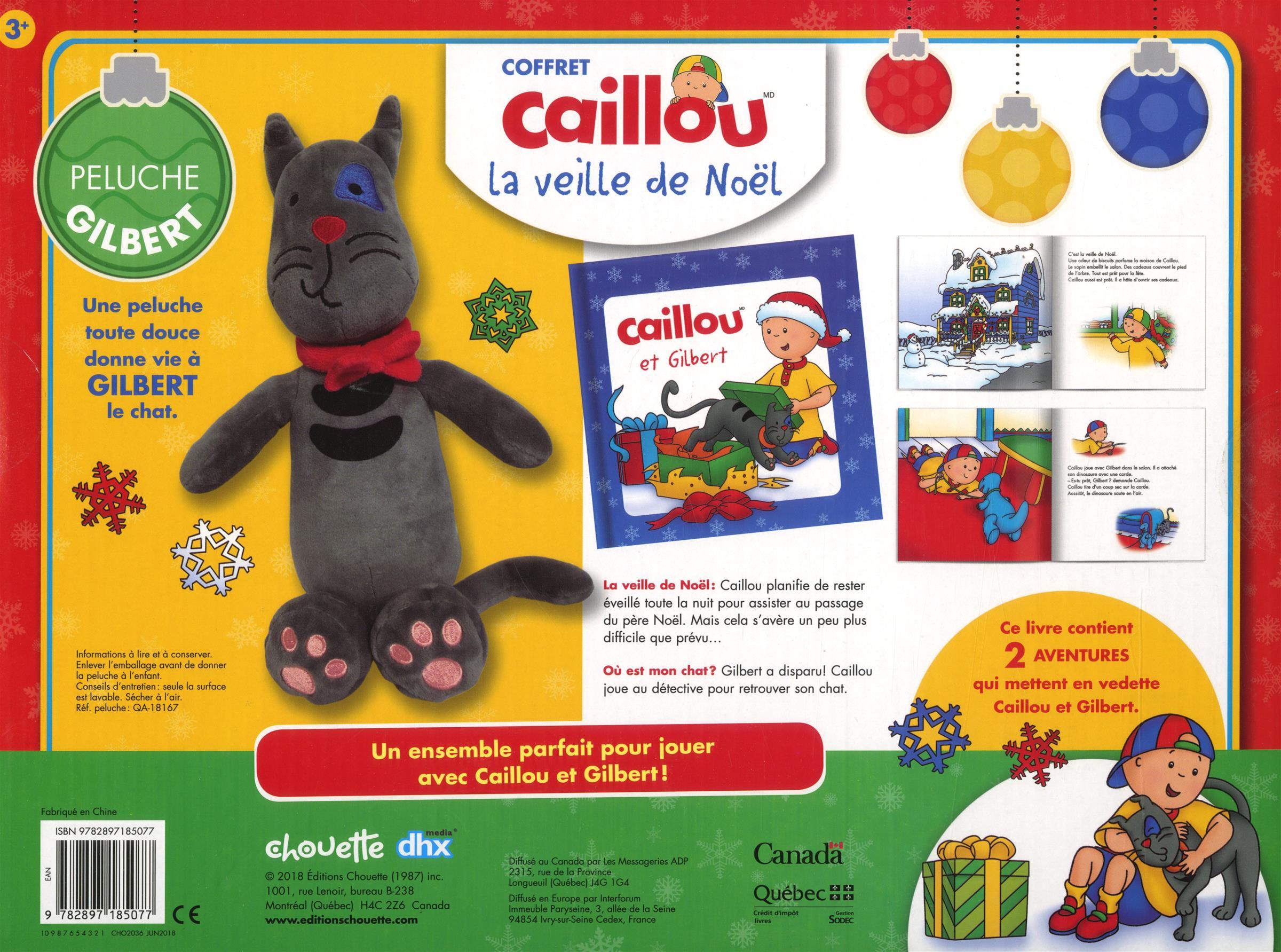 Livre Coffret Caillou: La Veille De Noël - Livre Avec 2 encequiconcerne Caillou Fete Noel