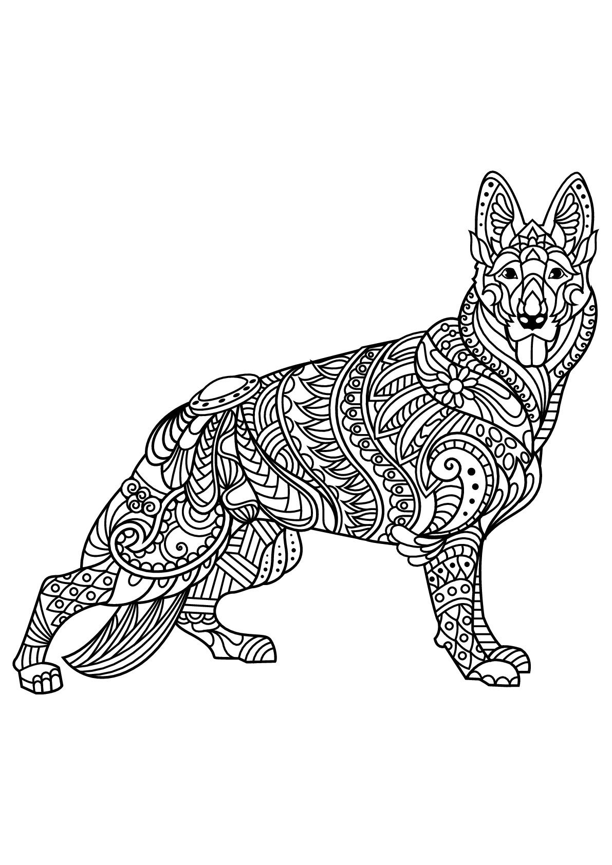 Livre Gratuit Berger Allemand - Chiens - Coloriages dedans Coloriage Labrador