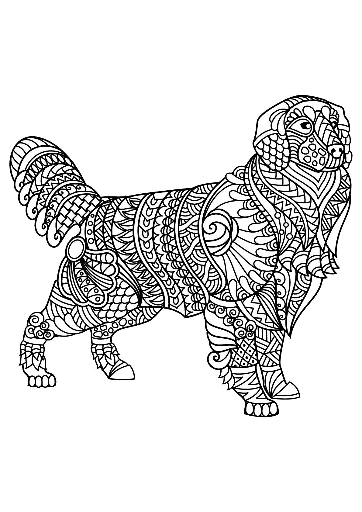 Livre Gratuit Chien Labrador - Chiens - Coloriages pour Coloriage Labrador