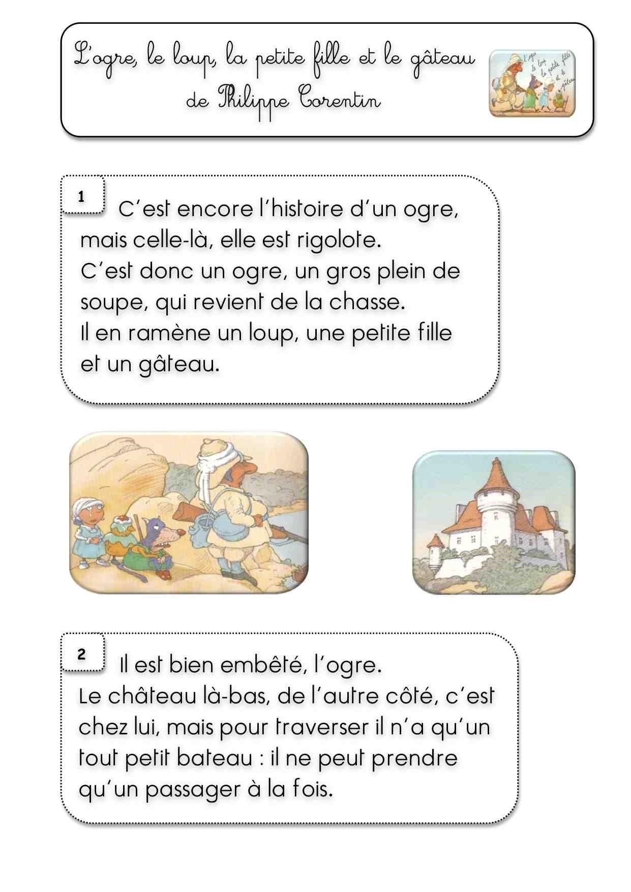 L'ogre, Le Loup, La Petite Fille Et Le Gâteau De P. Corentin encequiconcerne Le Petit Ogre Qui Voulait Apprendre À Lire