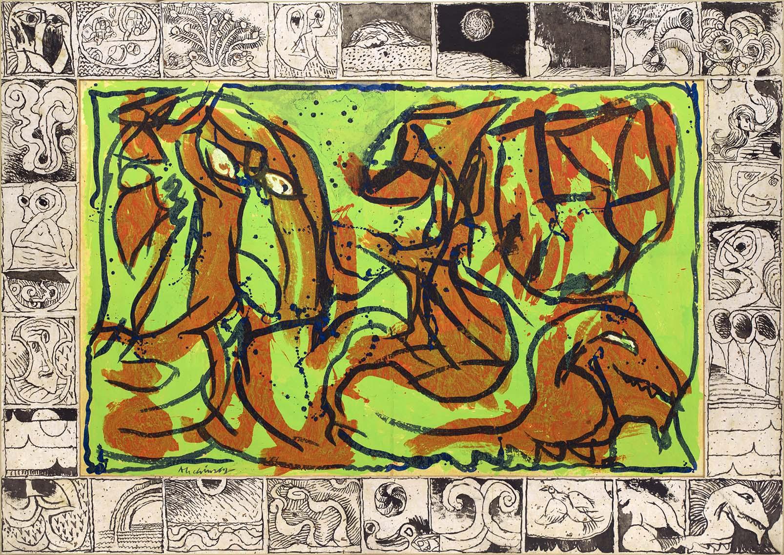 L'or Du Rien Une Œuvre De Pierre Alechinsky intérieur Oeuvre Alechinsky