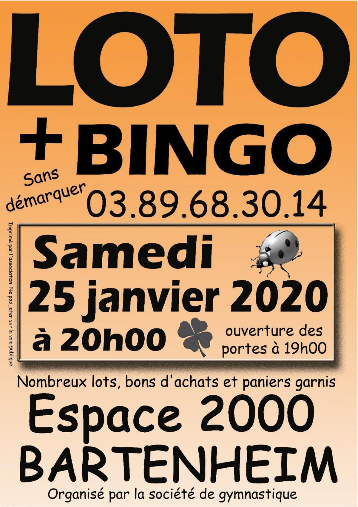 Loto + Bingo Sans Demarquer : Loto A Bartenheim encequiconcerne Loto Espace Jeux