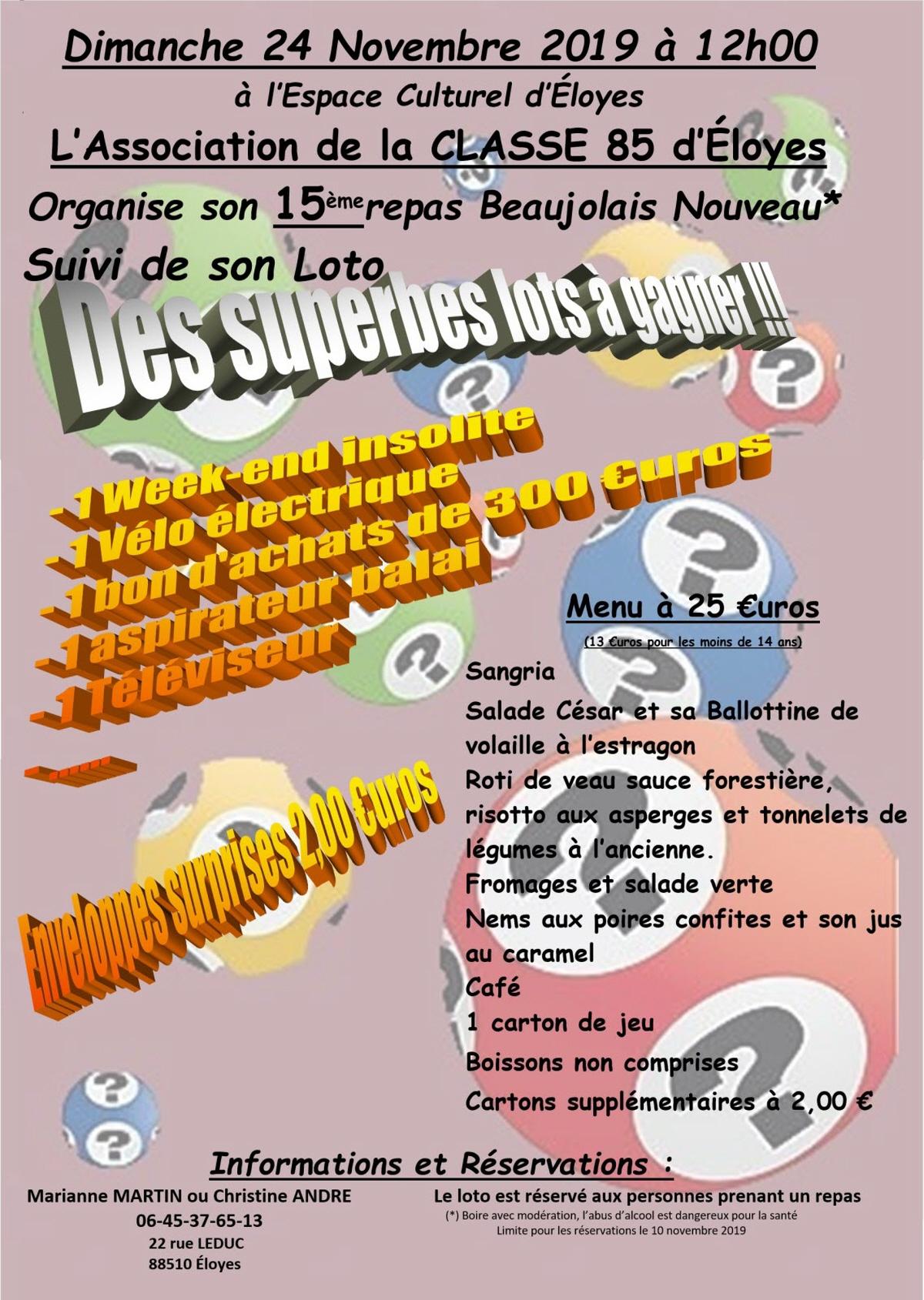 Loto Du Beaujolais : Loto A Eloyes pour Loto Espace Jeux
