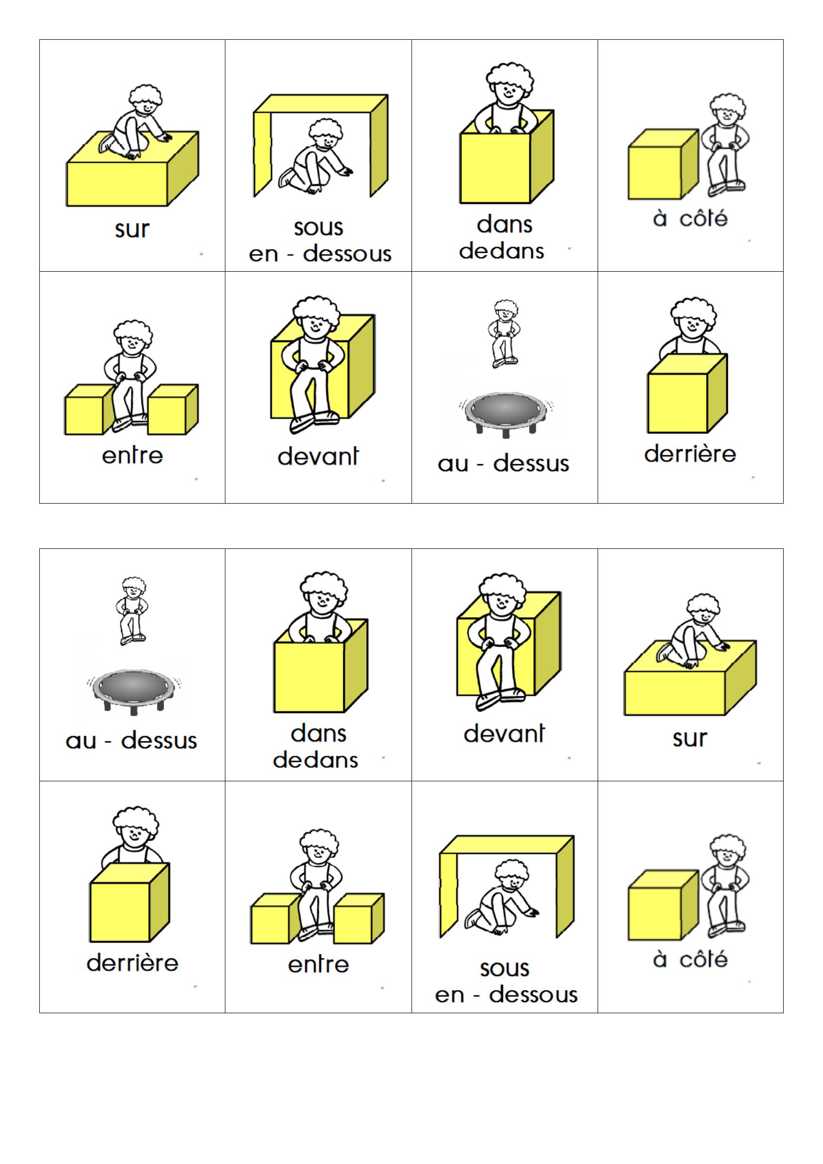 Loto - Identifier Des Positions Relatives.doc (Avec Images à Loto Espace Jeux