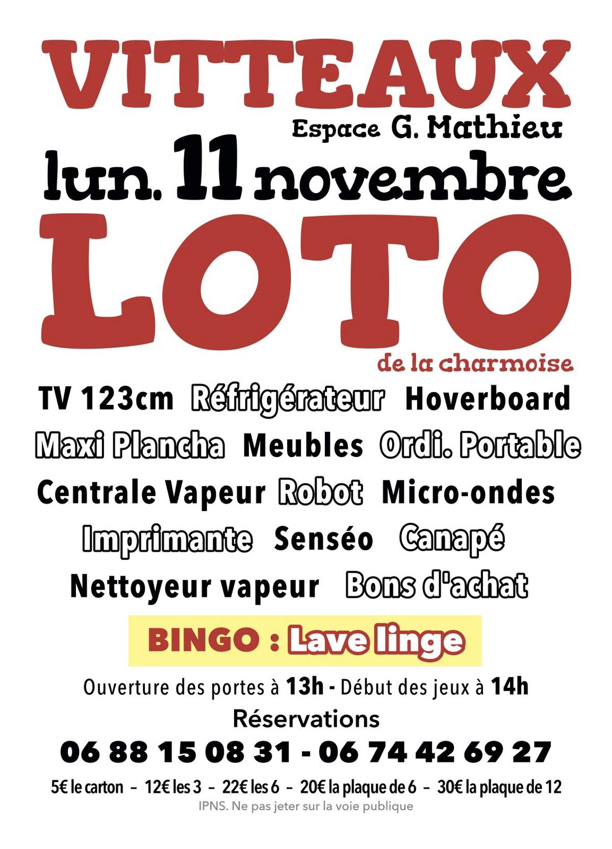 Loto : Loto A Vitteaux pour Loto Espace Jeux