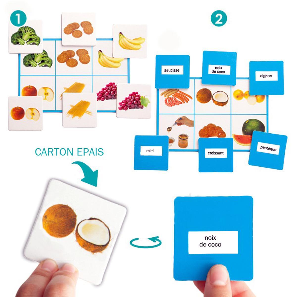 Loto + Mots : Aliments destiné Loto Espace Jeux