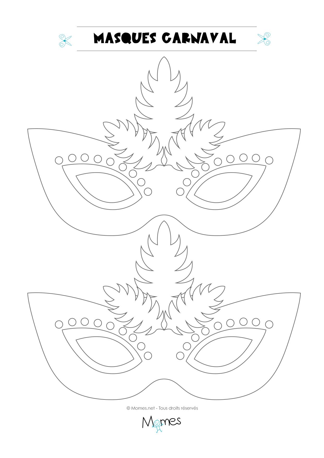Loup De Carnaval À Colorier - Momes à Masque Canard À Imprimer