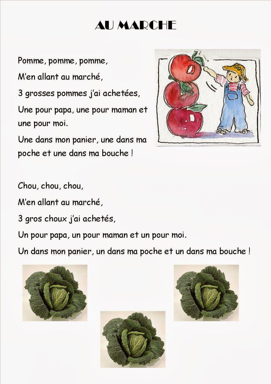 Ma Petite Maternelle | Comptine Fruits, Comptine Et Jeux De serapportantà Chanson Sur Les Fruits Et Légumes
