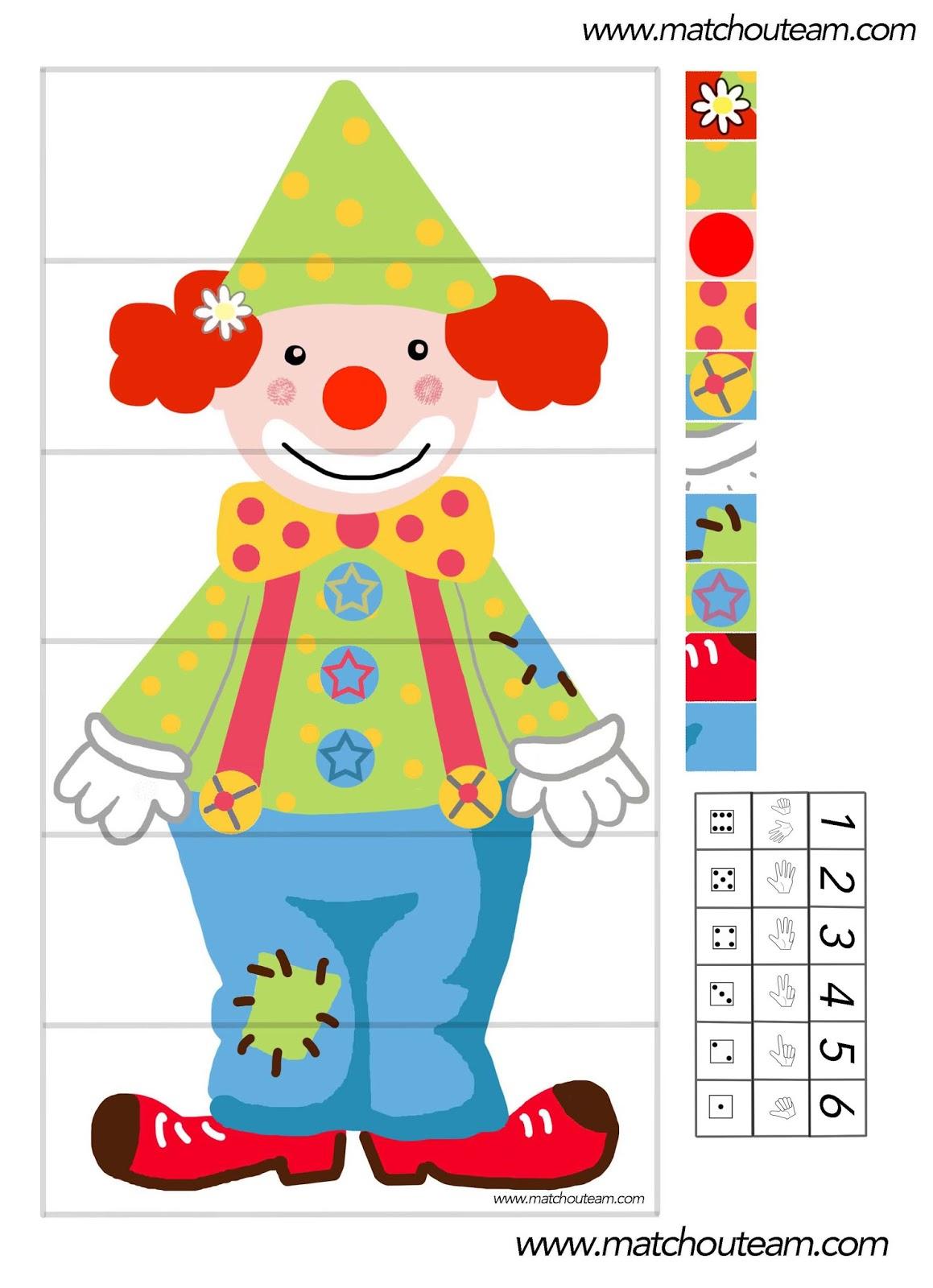 Ma Tchou Team: Jeu Autour D'un Clown À Imprimer pour Jeux De Maternelle À Imprimer