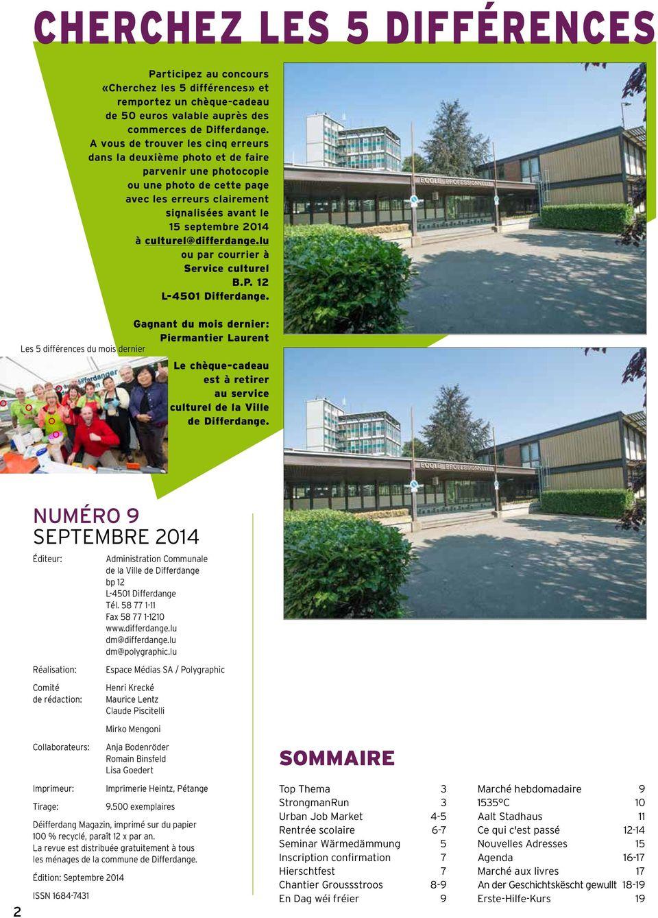 Magazin Déifferdang. Urban Job Market Le 23 Septembre Sur La pour Les 5 Differences