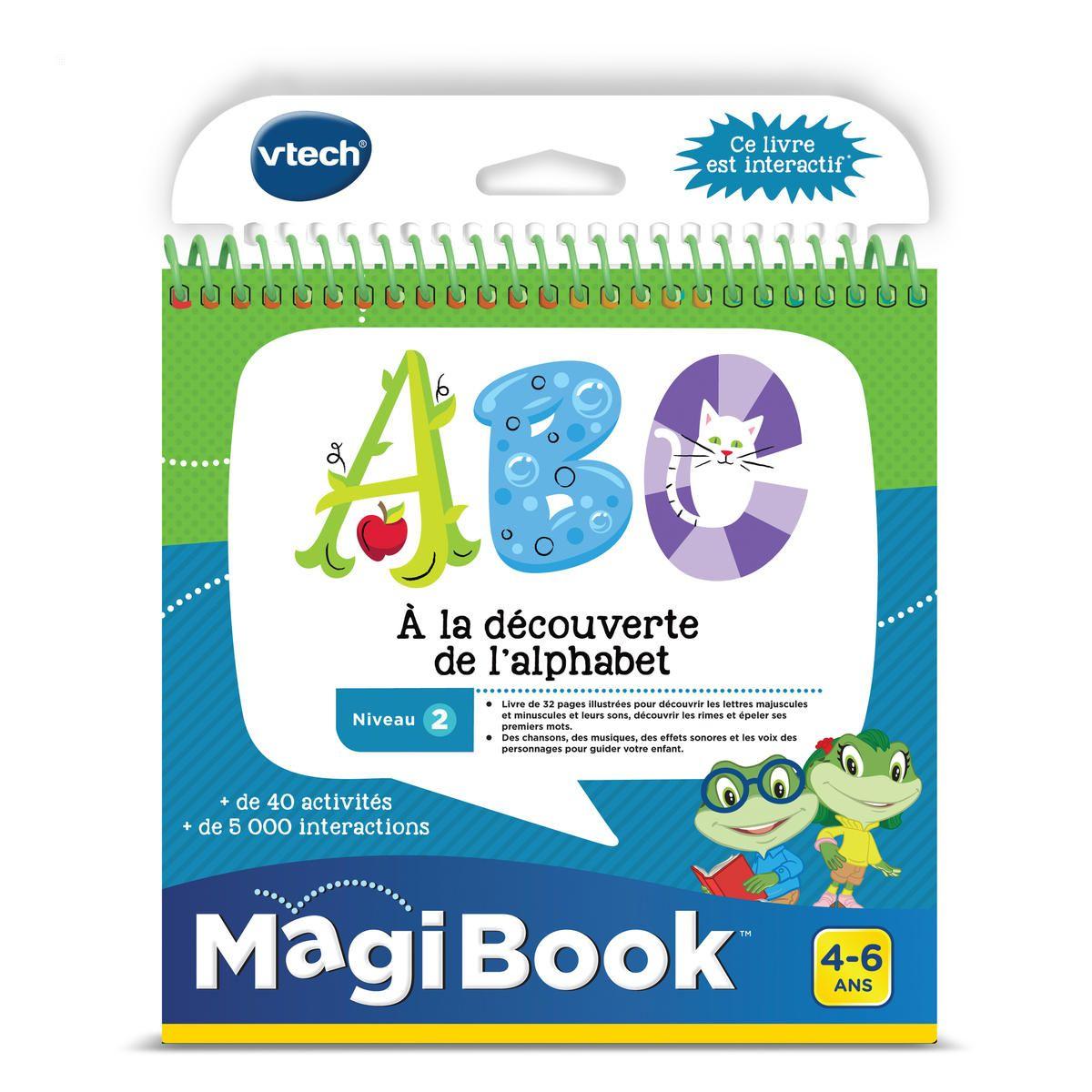 Magibook Abc A La Découverte De L'Alphabet -concentrant Jeux Educatif 4 Ans
